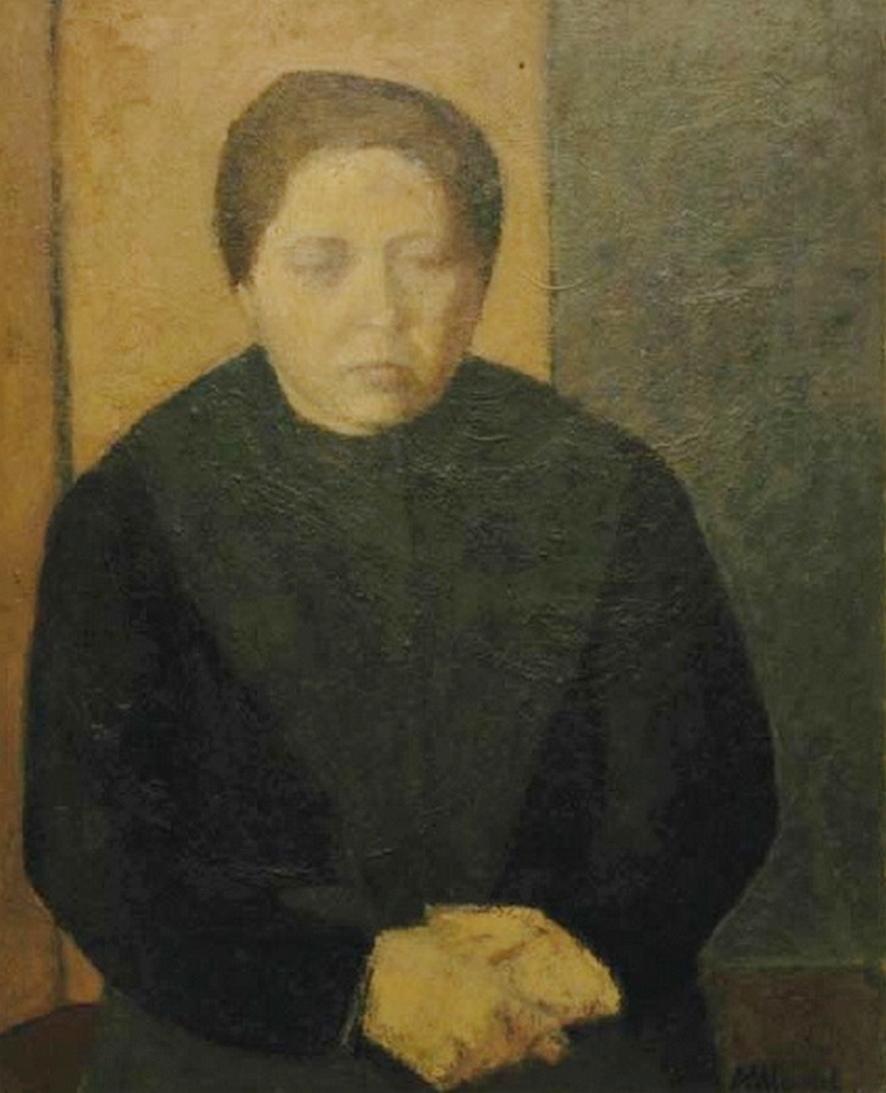 Ritratto - Olio su legno, 1950