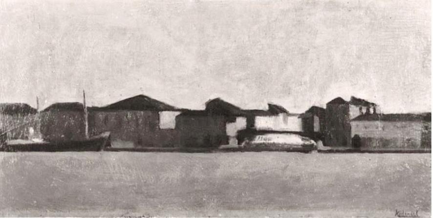 Venezia, La Giudecca - Olio su legno, 1950