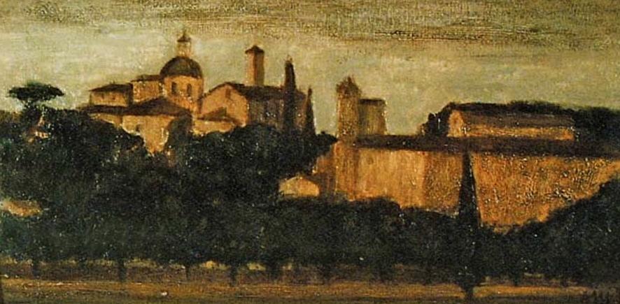 Roma, San Gregorio al Monte - Olio su legno, 1956