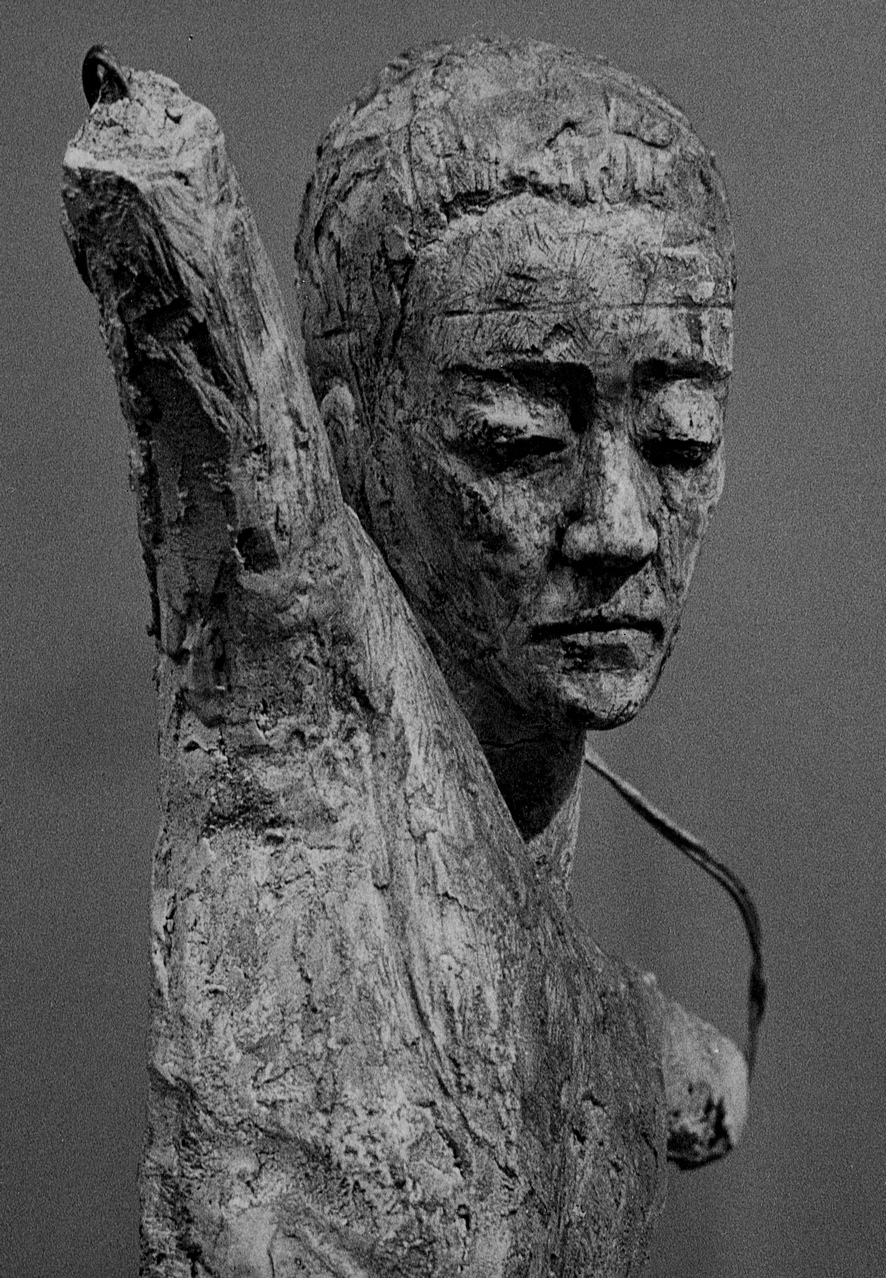 Studio per testa di Cristo - Gesso, 1957